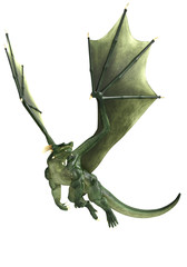 green dragon is just flying