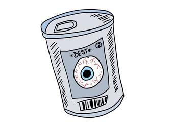 Crazy doodle juice eye, Halloween