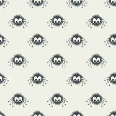 Seamless pattern with spider.