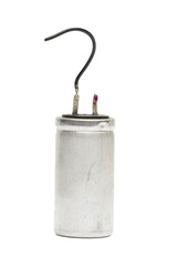 capacitor on the white background