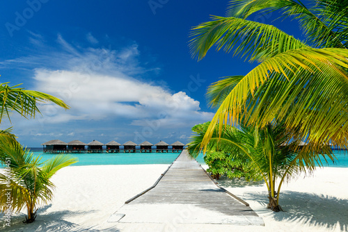 canvas print picture water bungalows