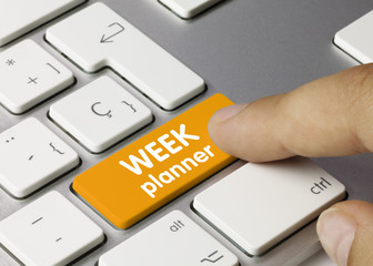 WEEK planner. Keyboard