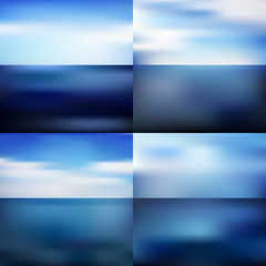 Water blurred background set