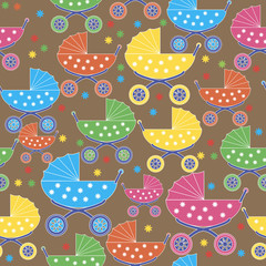 buggies seamless pattern