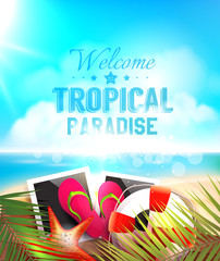 Summer Paradise vector design