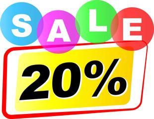 Vector twenty percent sale icon