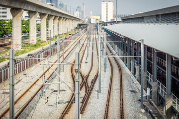 Industrial transportation of railway system in the Bangkok city