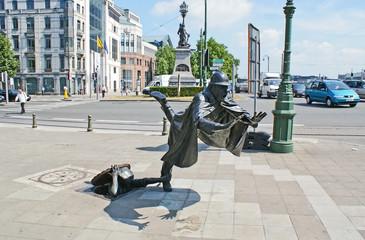 The unusual statue
