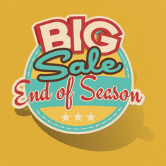 Retro Big Sale End of Season Sticker