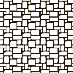 seamless monochrome pattern ornament