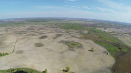 air panorama of rural areas from big height. Aerial view