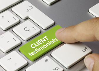 Client testimonials. Keyboard