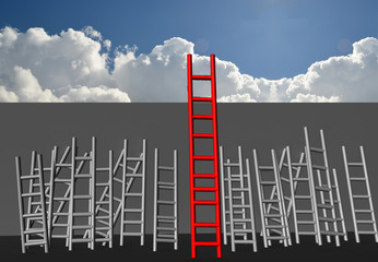 wall clouds ladder - overcome