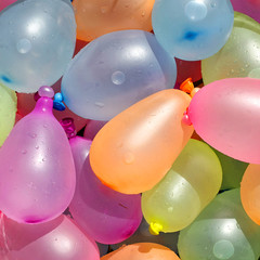 Collection of Colorful Water Balloons