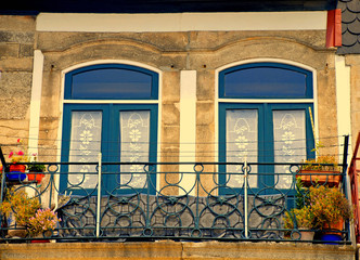 typical old balcony, Porto, Portugal