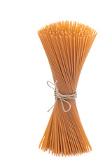 wholegrain spaghetti, isolated
