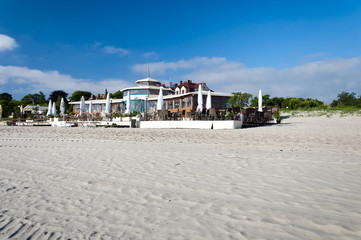 Restaurant on the coast of Baltic sea