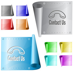 Contact us. Vector metal surface.