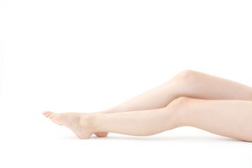 若い女性の足
