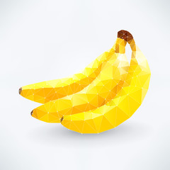 Abstract isolated banana fruit