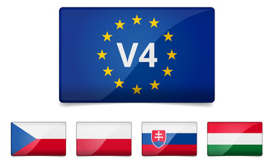 V4 Visegrad group - Czech republic, Poland, Slovakia, Hungary