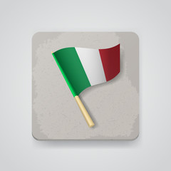 Italy flag, vector icon