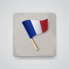 France flag, vector icon