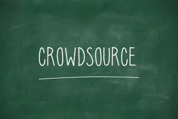 Crowdsource handwritten on blackboard