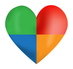 Colorful Vector Heart