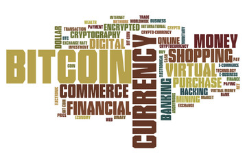 Bitcoin word cloud