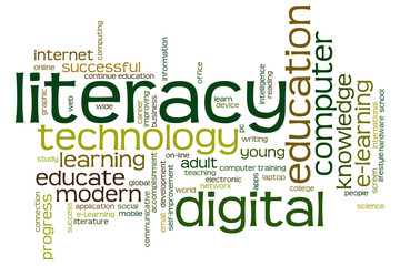 Digital literacy word cloud
