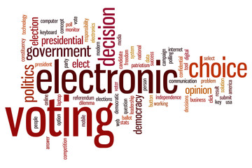 Electronic voting word cloud