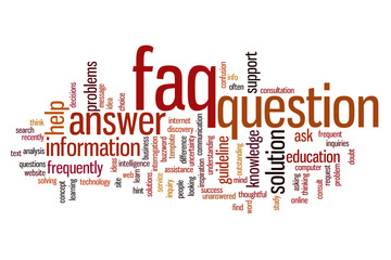FAQ word cloud