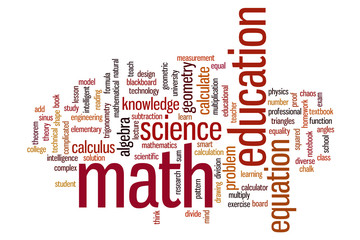 Math word cloud