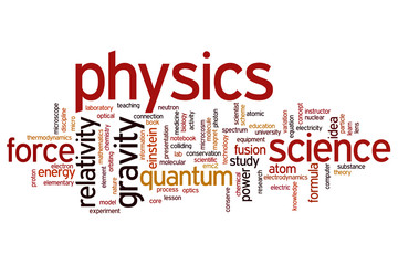 Physics word cloud