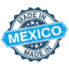 made in Mexico vintage stamp isolated on white background