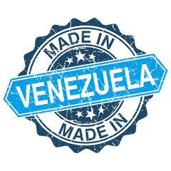 made in Venezuela vintage stamp isolated on white background