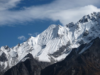 Beautiful mountain in the Langtang valley