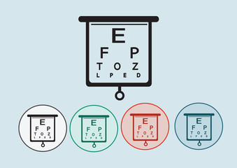 Eye Chart Test Illustration