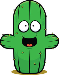 Cartoon Cactus Happy