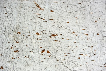 White Peeling Paint on Wooden Wall
