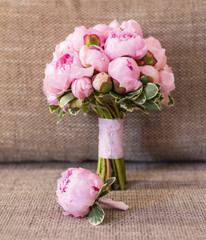 bouquet of peonies