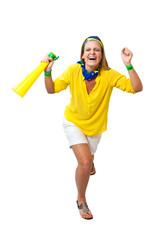Brazilian girl celebrating