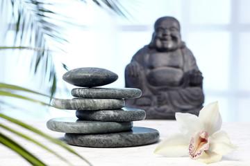 Hot Stones, Jade, Buddha,Orchidee