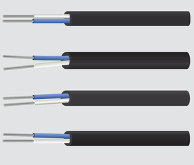 Set of aluminium cables