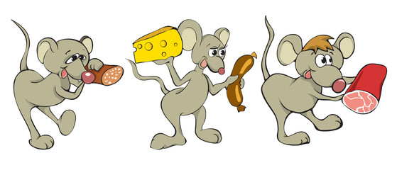 Fun cartoon mouse