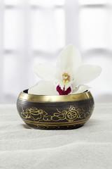 Klangschale, Ayurveda, Orchidee