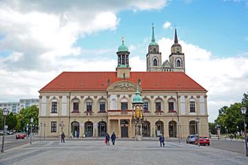 Magdeburg, Rathaus & Johanniskirche
