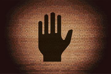 Stop. hand. Flat modern web  design
