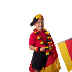 Smiling German Fan Child